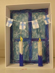 Aiheeseen liittyvä kuva Christmas Crafts For Kids, Kids Christmas, Finnish Independence Day, Painting For Kids, Art For Kids, Art Projects, Projects For Kids, Arts And Crafts, Paper Crafts
