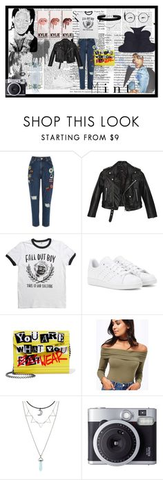 """""""DO YOU BOO #POLYVORE"""" by pinkyistorie ❤ liked on Polyvore featuring River Island, Nasty Gal, adidas, Jimmy Choo, Miss Selfridge, Hot Topic and Fujifilm"""
