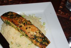 BBQ Atlantic Salmon with Lemon Cous Cous