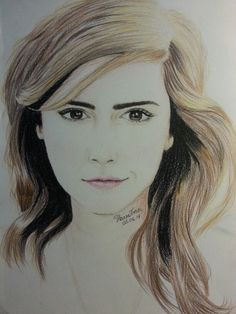 Portrait of the lovely Emma Watson by me ♥