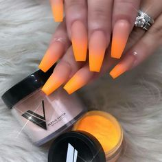 50 Gorgeous Ombre Matte Nail Designs You Will Love - Ongles Aycrlic Nails, Dope Nails, Neon Nails, Matte Nails, Faded Nails, Perfect Nails, Gorgeous Nails, Best Acrylic Nails, Acrylic Nails Coffin Ombre