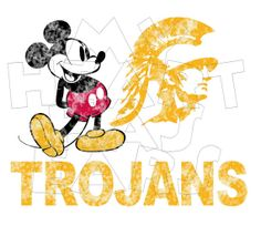 Printable diy Mickey Mouse USC Trojans Football by MyHeartHasEars, $5.00