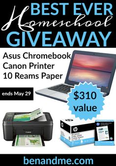 Win an Asus Chromebook a Canon Printer and More! Ends 5/23 {US}... sweepstakes IFTTT reddit giveaways freebies contests