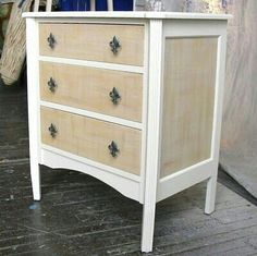 Makeover idea. White & wood washed dresser