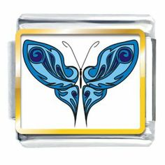 Pugster Shades Of Blue Butterfly Photo Italian Charms Italian Charms. $4.98. Metal: Stainless Steel. Plating: Gold Plated. Links: 1. Note: Soldered On (Not Glued). Charm Type: Custom Italian Photo Charm. Save 64%!