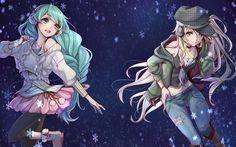 تحميل خلفيات 4k, هاتسوني ميكو, Megurine Luka, المانجا, شخصيات أنمي, Vocaloid