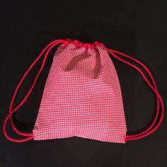 one of a kind drawstring  backpack. by mamalugashi on Etsy