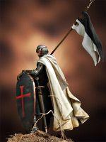 Templario con Bandera, Siglo XII