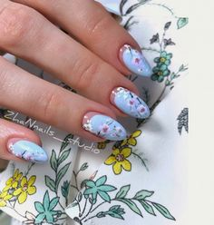 Blue Nails Design Trends, Looks & Ideas - Page 34 of 54 - Soflyme Nude Nails, Matte Nails, Coffin Nails, Acrylic Nails, Blue Nail Designs, Fall Nail Designs, Beautiful Nail Designs, Long Gel Nails, Short Nails