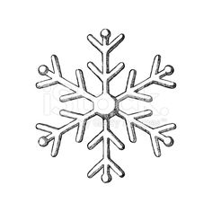 Sketch Snowflake royalty-free stock vector art