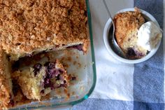 You're definitely going to want seconds after tasting this blueberry buckle coffee cake.