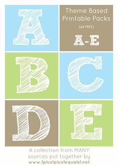 A Collection of FREE Early Childhood Theme Printable Packs from many sources, listed alphabetically. A-E Themes in this post!