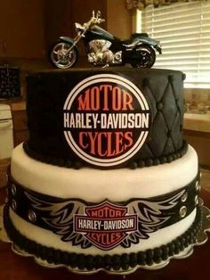 Motorcycle themed cake