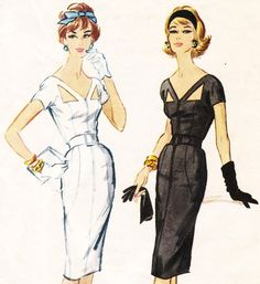 Vintage 50s wiggle dress sewing pattern by Estevez - McCalls for Quaker Oats B4 - bust 34 on Etsy, $125.00