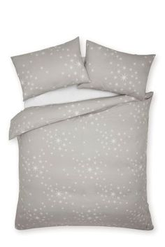 Buy Brushed Cotton Stars Print Bed Set from the Next UK online shop