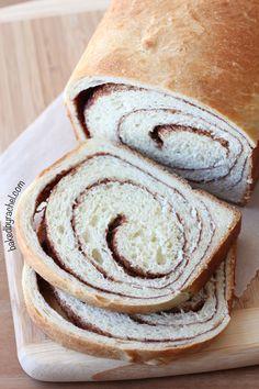 Cinnamon Swirl Bread Recipe from bakedbyrachel.com