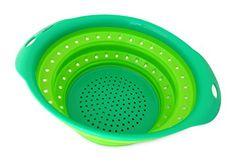Culina® Collapsible Colander, Green, 10-inch x 9-inch Oval Culina http://www.amazon.com/dp/B00YBF6ZZO/ref=cm_sw_r_pi_dp_sgF2wb0MSC7Z4