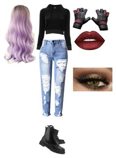 """""""Luna"""" by mira-15 on Polyvore featuring Vetements, Dr. Martens and Lime Crime"""
