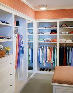 Spacious master walk in closet...like the layout..diff colors please :)