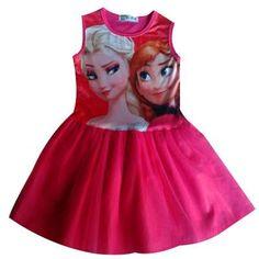 Item Code: RjilQlMk Girls' Cotton Princess Dress w/ O-Neck. For Info Send Item Code here http://on.fb.me/1ICZ89q.