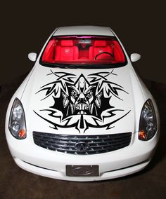CAR VINYL HOOD GRAPHICS DECALS STICKER ANGRY FACE TRIBAL DESIGN N442