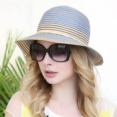 9787eb72826 Blue straw bucket hat for women best hats for sun protection cheap