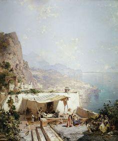 Amalfi - golfe de Salerne - (Franz Richard Unterberger)