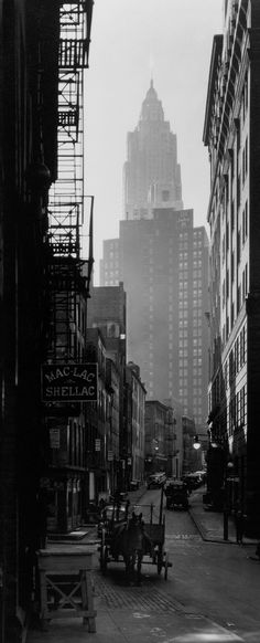 Cliff and Ferry Street, Manhattan, NYC, 1935