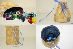 lined dice bags – for all your polyhedral needs @ Tally's Treasury