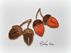 Quilled acorn - by: Quilling Ada