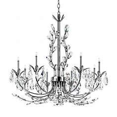 """Eurofase Giselle 25 1/4"""" Wide Chrome Crystal Chandelier  1390.00 looks nice for kitchen possibly instead of drum/crystal fixture. (********************"""