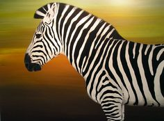 Zebra: do this with red background