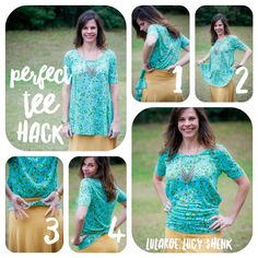 Perfect Tee hack! Make this flowy top more fitted for shorts, jeans and skirts. I'm obsessed.