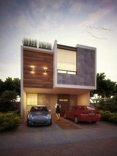 Fachadas de casas moderna de 9 a 12 de frente home for Casa moderna 7x15