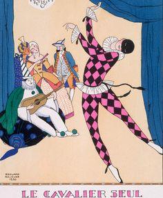 The Masked Ball by Edward Halouze c.1920
