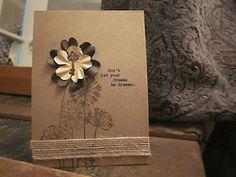 stamping + burlap ribbon + paper flowers + key/keyhold brads + typewriter inspirationTumblr