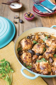Fig and Ginger Chicken Tajine recipe from Mediterranean Paleo Cooking - includes slow cooker instructions!