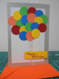 Scrapmaximo: Cartão - Aniversário - Balões