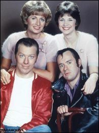Laverne & Shirley!  Tuesdays at 8:30.  Right after Happy Days.  :)