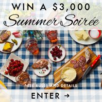 Win a $3,000 summer soiree! Prize package includes $1,000 towards chef designed recipes and fresh ingredients, $1,000 to shop creative products from the makers you'll love and $1,000 to look your best. Enter now: tastingtable.com/soiree2014