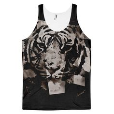 Black Abstract Tiger Classic fit tank top (unisex)
