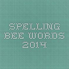 spelling bee words 2014