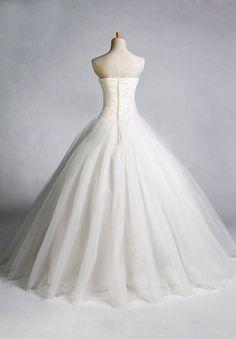 Easy Tulle Skirt Pattern   ... > Bride > Tulle Strapless Sweetheart Ball Gown Simple Wedding Dress