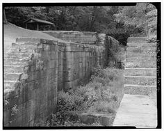 Towpath Bridge, Spanning a lock of Ohio & Erie Canal, Coshocton, Coshocton County, OH Coshocton Ohio, Erie Canal, Photo Caption, Library Of Congress, Wander, Bridge, History, Caption Pictures, Historia