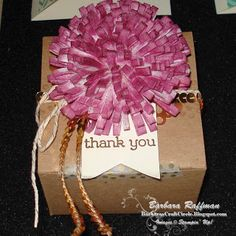 Stampin' Up! Leadership Conference 2014 - Sample flower using the Fringe Scissors then spritzed with the Stampin' Spritzer.