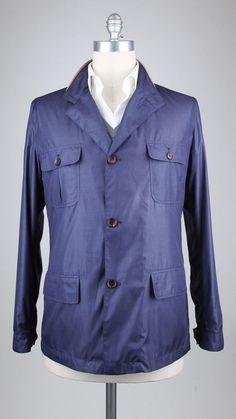 New $2200 Luciano Barbera Blue Plaid Jacket -  40/50 - (11122579) #LucianoBarbera #BasicJacket