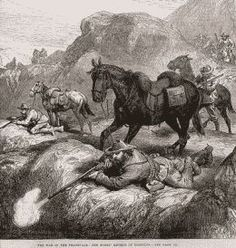 The War between the British and the Boers of the Transvaal, South Africa, in 1880-81 came to a head by the proclamation of the Transvaal as a Republic. Most notable event was the defeat of the British at Majuba Hill 1881. Peace was made shortly afterwards and Britain recognized the independence of the Transvaal.