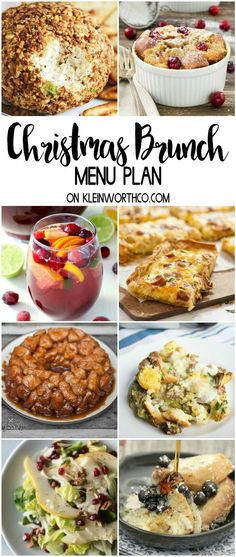 Christmas Brunch Menu Plan will help take the stress out of the holiday season. We have appetizers, drinks, main dishes, sides & desserts - it's all here. via christmas brunch menuplan recipes holiday celebrate 195273333831102401 Christmas Brunch Menu, Christmas Breakfast, Christmas Morning, Christmas Entertaining, Planning Menu, Brunch Buffet, Breakfast Buffet, Breakfast Recipes, Breakfast Ideas