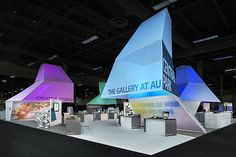 Tradeshow exhibit with large fabric structures, designed by Freeman XP, Fabric Images, Inc.; (c) 2014 Padgett and Company