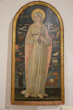GUIDOCCIO COZZARELLI (Siena, n. 1450 c. - m. 1517) Santa Caterina d'Alessandria tavola 120x60,5 cm; 1475-1500 c. Pinacoteca Nazionale di Siena, inv. 297